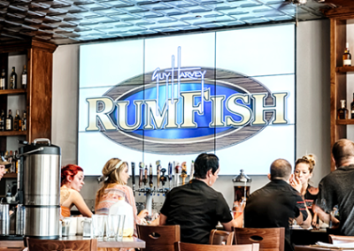 RumFish Grill Video Wall