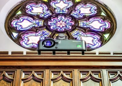 Hyde Park United Methodist Projector Closeup